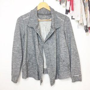 Eddie Bauer gray open sweatshirt jacket Size XS